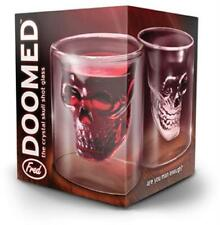 Skull Head Shot Glass Fred Fun Creative Designer Doomed Crystal Party Doom 2 oz.