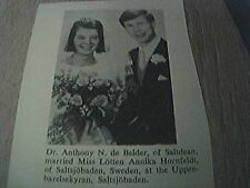 ephemera 1965 sussex wedding anthony n de belder saltdean lotten hornfeldt swede