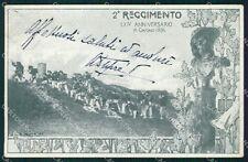 Militari II Reggimento Bersaglieri Anniversario Soncini cartolina XF1106