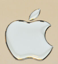 1 x Espejo de Plata con el logotipo de Apple 3D abovedado Calcomanía Adhesivo/accesorio. tamaño 50x43mm de Apple