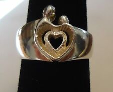 Sterling Silver Ring - BLACK HILLS Mothers Love Ring Size 7 -  6.5 Grams