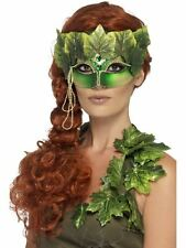 LADIES FOREST NYMPH FAIRY PIXIE POISON IVY EYEMASK MASQUERADE FANCY DRESS MASK