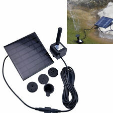 Solar Power Panel Water Kit Pump Fountain Pool Garden Pond Watering Set US STOCK