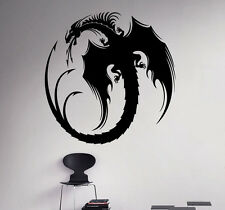 Dragon Wall Vinyl Decal Monster Vinyl Sticker Medieval Home Bedroom Interior 3