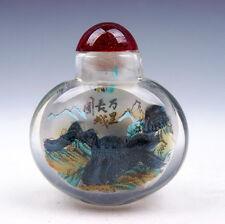 Peking Glass Inside *Great Wall* Reverse Hand Painted Snuff Bottle #08211609