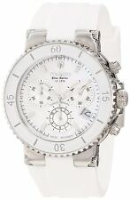 Mulco Women's MW370604011 'Blue Marine' Chronograph White Rubber Watch