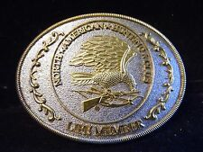 Gold Silver Tone Life Member 'North American Hunting Club' Belt Buckle