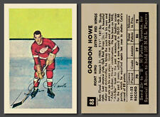 Gordie Howe #88, Reprint, Parkhurst 1952-53 mint condition