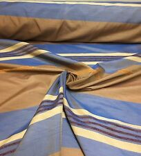 LUXURIOUS BROWN/BLUE CURTAIN FABRIC 8 METRES.