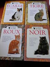 LOT 4 VOLUMES La Petite Bibliothèque du Chat TIGRE ECAILLE DE TORTUE NOIR ROUX