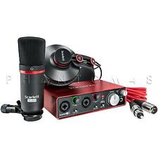 Focusrite Scarlett 2i2 Studio Pack 2nd Gen Interface Headphones & Microphone NEW