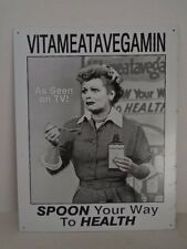 I Love Lucy Arnez Vitameatavegamin As seen on TV Spoon way to Health Sign  Metal