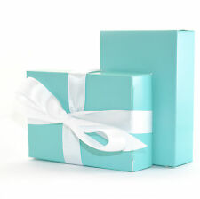 """The Finest Quality & Pre-Glued"" 100 x TIFFANY BLUE Wedding Cake Box Favour Gift"