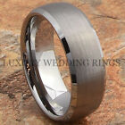 Tungsten Ring Men's Wedding Band Matte Titanium Color Infinity Jewelry Size 6-13