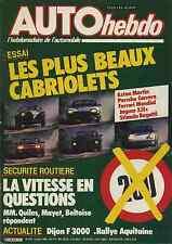 AUTO HEBDO n°478 du 4 Juillet 1985 PORSCHE 911 FERRARI MONDIAL JAGUAR XJS STIMUL