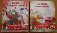 Livre CD 2 CONTES ENFANTS RACONTES LILOU L'ELEPHANT CLOWN + LA BELLE AU BOIS DOR