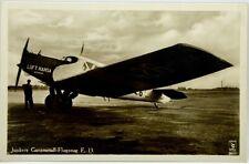 Cartolina Aviazione - Aereo Junkers Ganzmetall-Flugzeug F. 13. - Non Viaggiata
