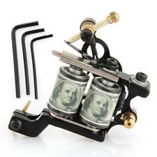 Body Art Tattoo Machine Gun Shader Liner Double 10 Wrap Coils Alloy Iron Fist