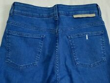 "Stella McCartney Sz 27 Bright Flare Blue Bell Bottom Jeans 28"" x 35"" Mid Rise"
