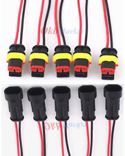 New 5Kit 2 Pin 2 Way Car Waterproof Electrical Connector Plug Wire AWG Marine US