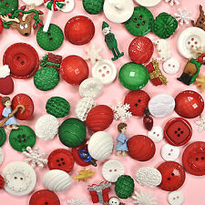 DRESS IT UP Holiday Collection Buttons  - 1460 Grab Bag Christmas Snowflakes