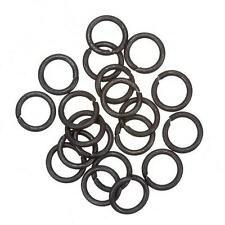 Grey Black Jump Rings 10mm 1.2mm Thick - Sold as a Pack of 20 (B93/4)