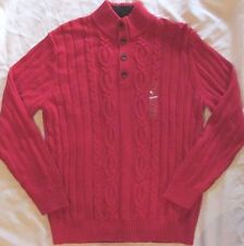 Men's Red Nautica cable knit Sweater.............Cotton..........XL....NWT