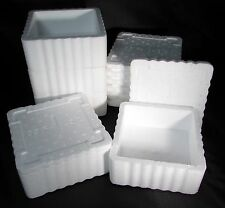 Lot of 60 WORM LIVE FISH BAIT CONTAINERS STYROFOAM 12 oz SQAURE VENTED INSULATED