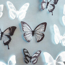 18pcs Black White Butterfly  Art Decal Wall Stickers Home Decor Home Decoration