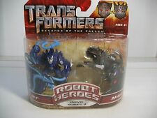 TRANSFORMERS ROTF Jolt vs Ravage Robot Heroes Movie Series 2  ~ MOC