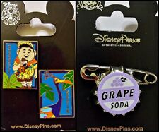 Disney Parks 2 Pin Lot UP Russel and Kevin + Grape Soda cap pins