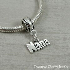 925 Sterling Silver Nana Dangle Bead Charm - fits European Bracelets NEW