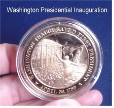 1789 Washington Inaugurated 1st President Franklin Solid Bronze - Uncirculated