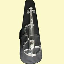 4/4 Size Transparent ELECTRIC Violin+CASE+BOW+4/4 Electric Violin -955# NEW
