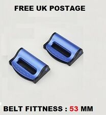 CHRYSLER BLUE SEAT ADJUSTABLE SAFETY BELT STOPPER CLIP CAR TRAVEL 2PCS