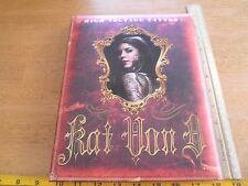 High Voltage Tattoo signed Kat Von D HC book sexy