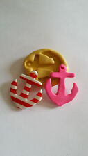 Large Anchor 34mm Flexible silicone mold for for chocolate fondant clay & more
