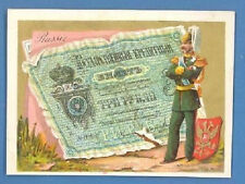RUSSIA RUSSLAND 3 Rub. and OFFICER VINTAGE CARD