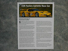 2002 Corvette C5R Owned By The Late Chip Miller Racing Facts Sheet