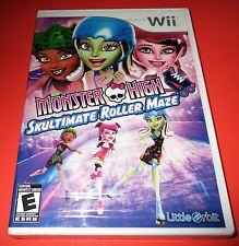 Monster High: Skultimate Roller Maze Nintendo Wii *Factory Sealed! *Free Ship!