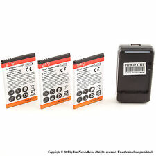 3 x 1950mAh Battery for Motorola Droid Bionic Targa 4G Dock Charger
