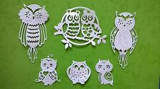 OWLS SET Collection Die Cuts - WHITE - Toppers, Cards, Crafts