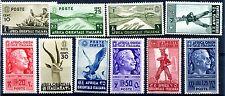 AOI - 1938  SOGGETTI VARI - 10 VALORI NUOVI **
