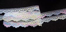 1/2 Inch wide Flat White-Spring Multi Colored Raschel Lace price for 3 yard