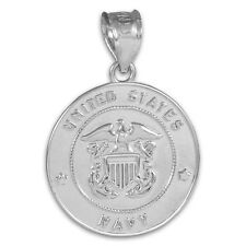 Sterling Silver US Navy Coin Pendant