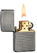 Zippo New 2014 Choice Catalog Cross Wave Ridge High Polish Black Chrome 28544