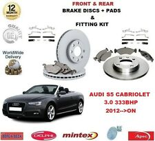 FOR AUDI S5 3.0 QUATTRO 2012- ON FRONT + REAR BRAKE DISCS & PADS + FITTING KIT