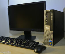 "Dell OptiPlex 960 SFF+Monitor Screen TFT 19"" 3.00GHz 8GB DDR2 1TB Win 7 WiFi"