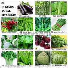 4190+ SURVIVAL HEIRLOOM VEGETABLE FRUIT SEEDS NON GMO ORGANIC FOOD BANK LOT