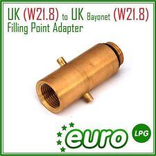 Description du produit uk (W21.8) au royaume-uni à baïonnette (W21.8) gpl point de remplissage adaptateur